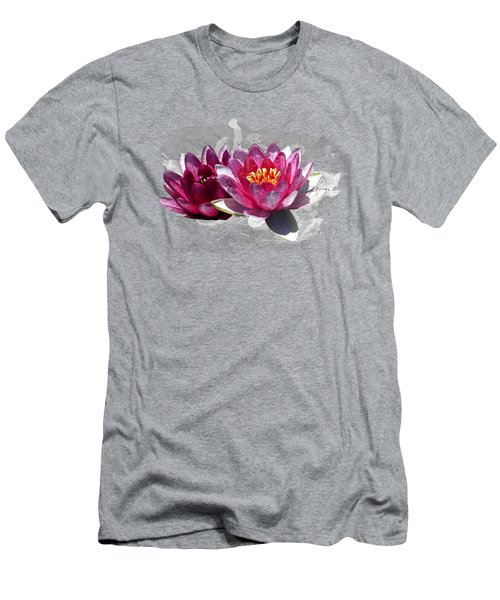 Water Lily Men's T-Shirt (Athletic Fit)