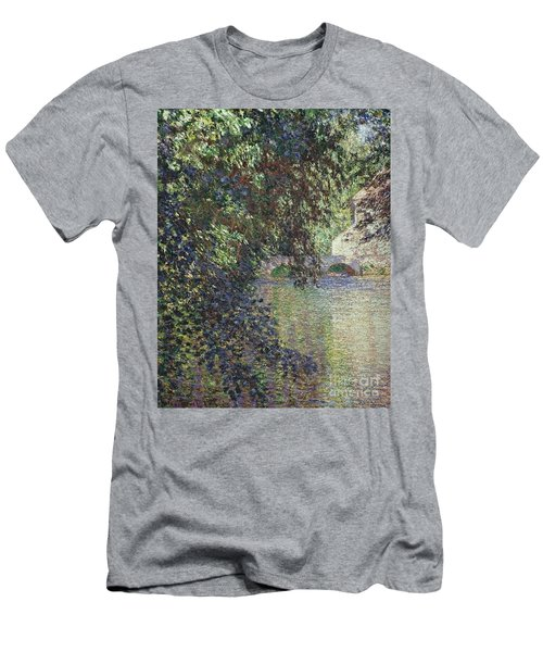 Water Mill At Limetz Men's T-Shirt (Athletic Fit)