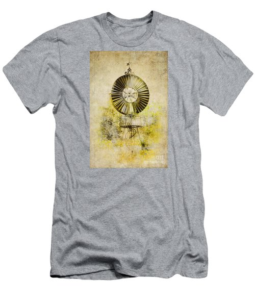 Men's T-Shirt (Slim Fit) featuring the photograph Water-pumping Windmill by Heiko Koehrer-Wagner