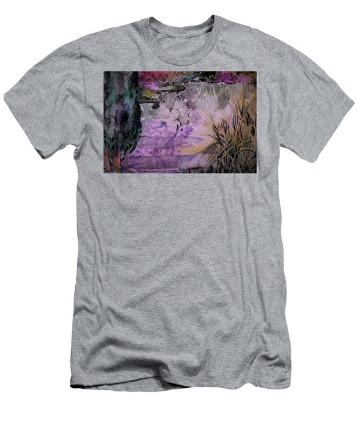 Men's T-Shirt (Slim Fit) featuring the painting Water Sprite by Mindy Newman
