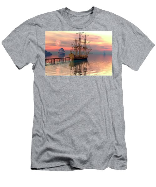 Men's T-Shirt (Slim Fit) featuring the digital art Water Traffic by Claude McCoy