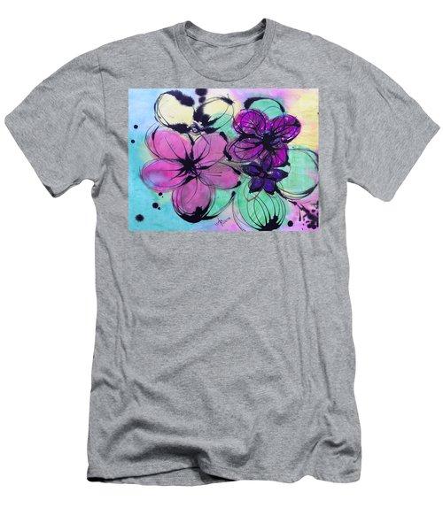 Watercolor And Ink Haiku  Men's T-Shirt (Athletic Fit)