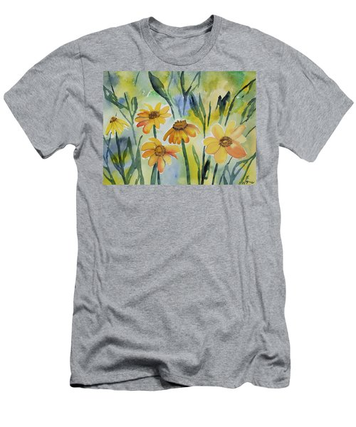 Watercolor - Colorado Summer Wildflowers Men's T-Shirt (Athletic Fit)