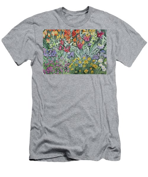 Watercolor - Empress Hotel Gardens Men's T-Shirt (Athletic Fit)