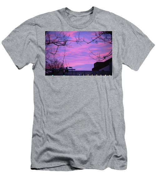 Men's T-Shirt (Slim Fit) featuring the photograph Watercolor Sky by Sumoflam Photography