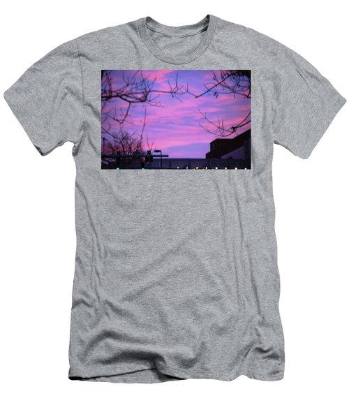 Watercolor Sky Men's T-Shirt (Athletic Fit)