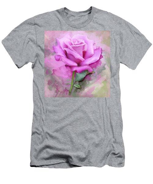 Watercolour Pastel Lilac Rose Men's T-Shirt (Athletic Fit)