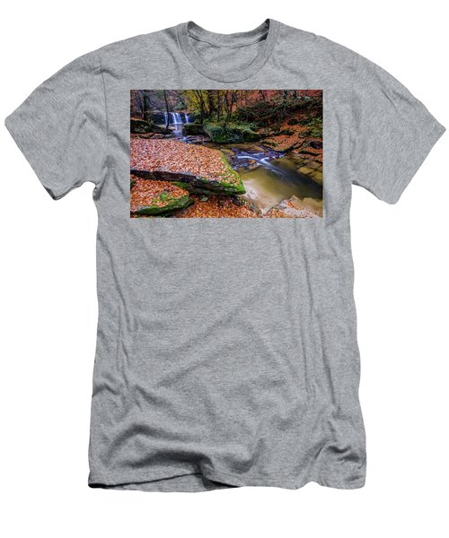Waterfall-3 Men's T-Shirt (Athletic Fit)