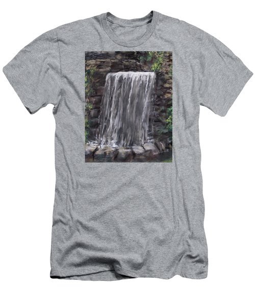 Waterfall At Longfellow's Gristmill Men's T-Shirt (Slim Fit) by Jack Skinner