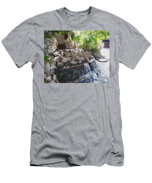 Men's T-Shirt (Athletic Fit) featuring the digital art Waterfall by Deleas Kilgore