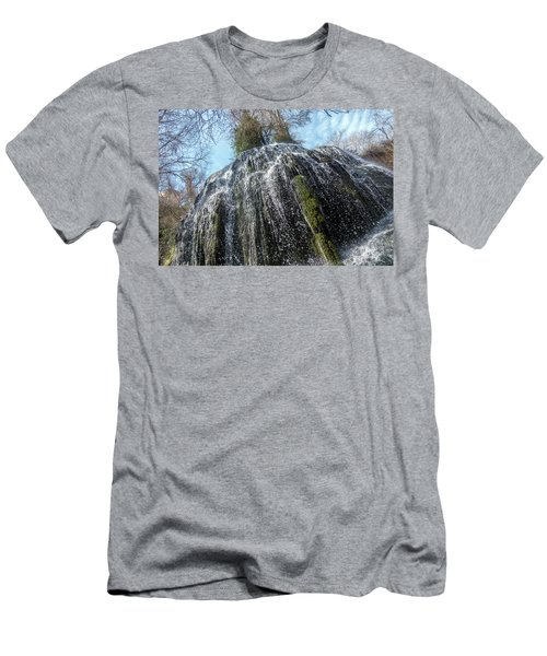 Waterfall From Below Men's T-Shirt (Athletic Fit)