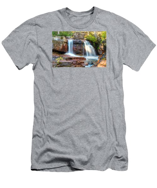 Waterfall Men's T-Shirt (Slim Fit) by Gary Lengyel