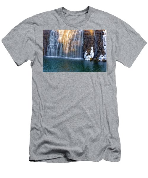 Waterfall In Winter Men's T-Shirt (Athletic Fit)