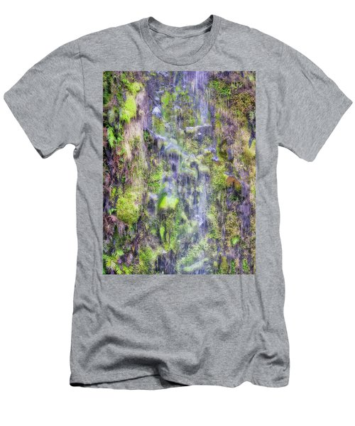 Men's T-Shirt (Athletic Fit) featuring the photograph Waterfall - Okarito Beach - New Zealand by Steven Ralser