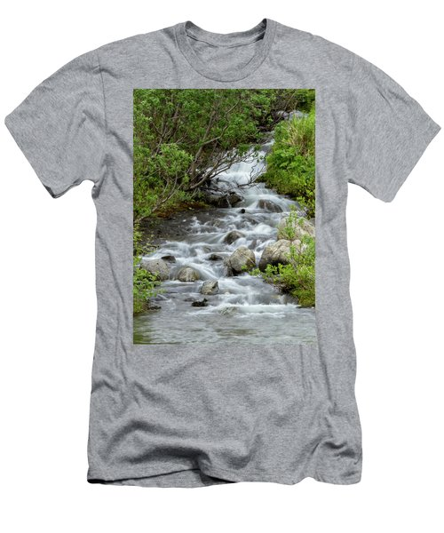 Waterfall Picture - Alaska Men's T-Shirt (Athletic Fit)