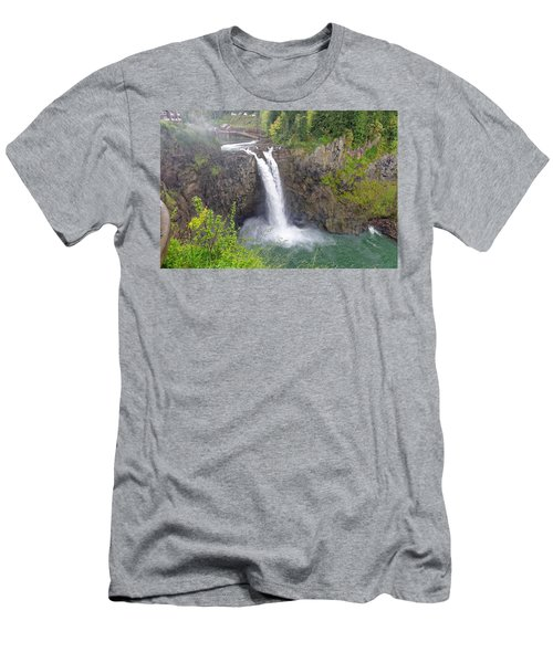 Waterfall Through The Mist Men's T-Shirt (Athletic Fit)