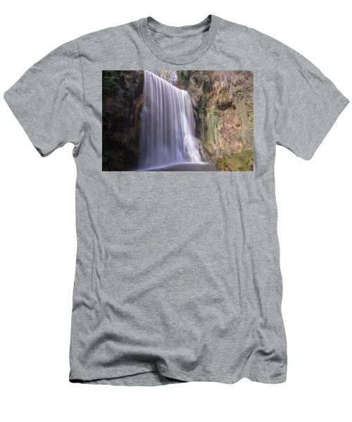 Waterfall With The Silk Effect Men's T-Shirt (Athletic Fit)