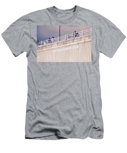 Men's T-Shirt (Athletic Fit) featuring the photograph Waterloo Bridge by Rasma Bertz