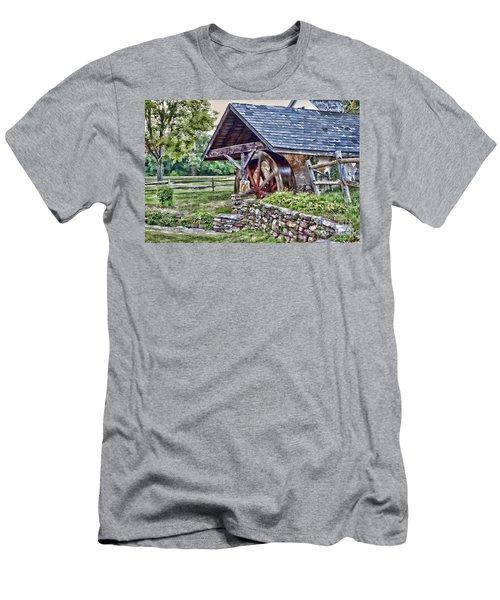 Waterwheel Men's T-Shirt (Slim Fit) by Nicki McManus