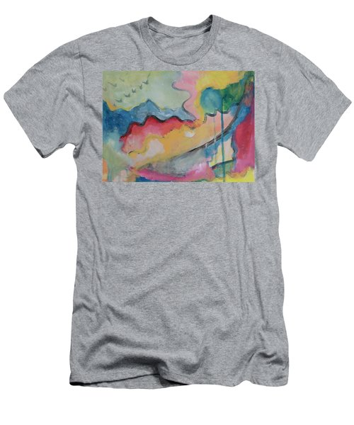 Men's T-Shirt (Slim Fit) featuring the digital art Watery Abstract by Susan Stone