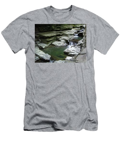 Men's T-Shirt (Athletic Fit) featuring the photograph Watkins Glen State Park by John Schneider