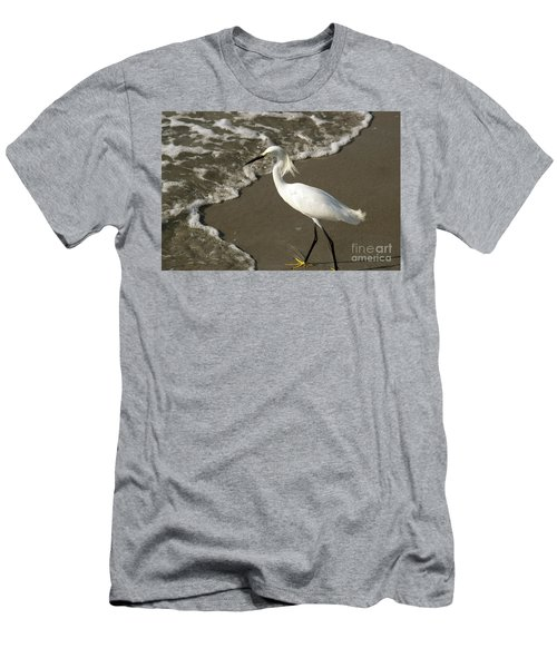 Wave And Snowy Men's T-Shirt (Athletic Fit)