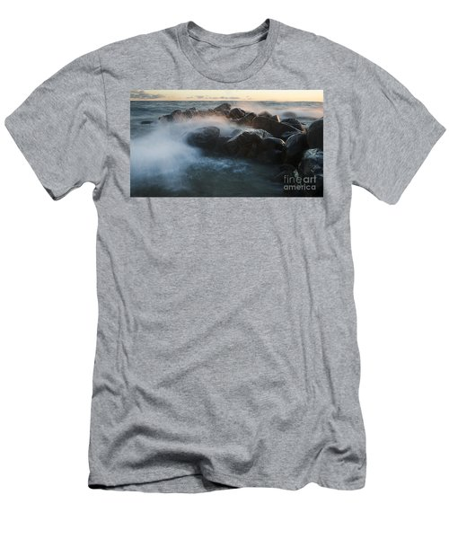 Wave Crashed Rocks 7947 Men's T-Shirt (Athletic Fit)