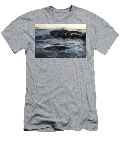 Wave Crashes Rocks 7838 Men's T-Shirt (Athletic Fit)
