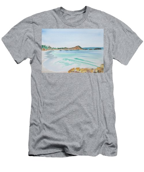 Waves Arriving Ashore In A Tasmanian East Coast Bay Men's T-Shirt (Athletic Fit)