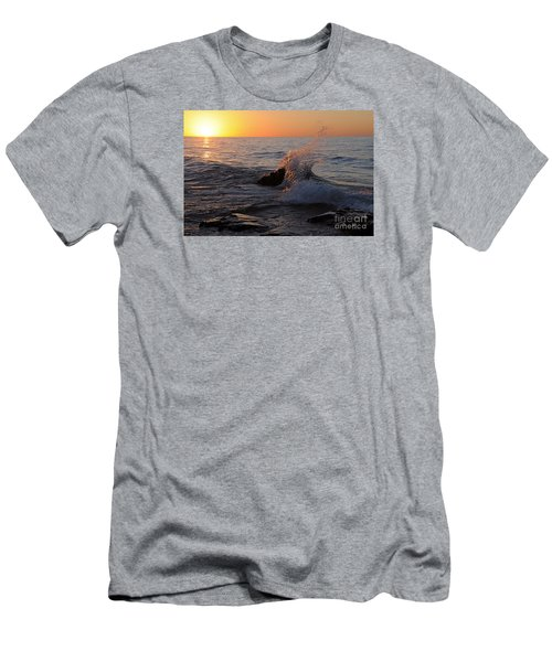 Men's T-Shirt (Slim Fit) featuring the photograph Waves At Sunrise by Sandra Updyke