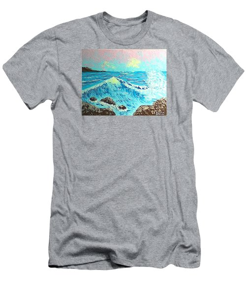 Waves Men's T-Shirt (Slim Fit) by Brenda Bonfield