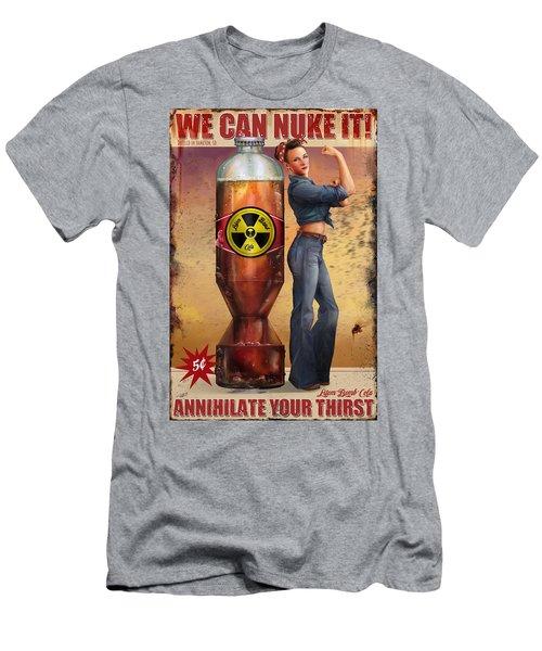 Men's T-Shirt (Slim Fit) featuring the digital art We Can Nuke It by Steve Goad
