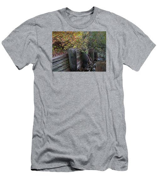Weathered Wood In Autumn Men's T-Shirt (Athletic Fit)
