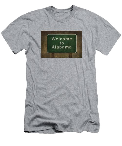 Welcome To Alabama Roadside Sign Illustration Men's T-Shirt (Slim Fit) by Bruce Stanfield