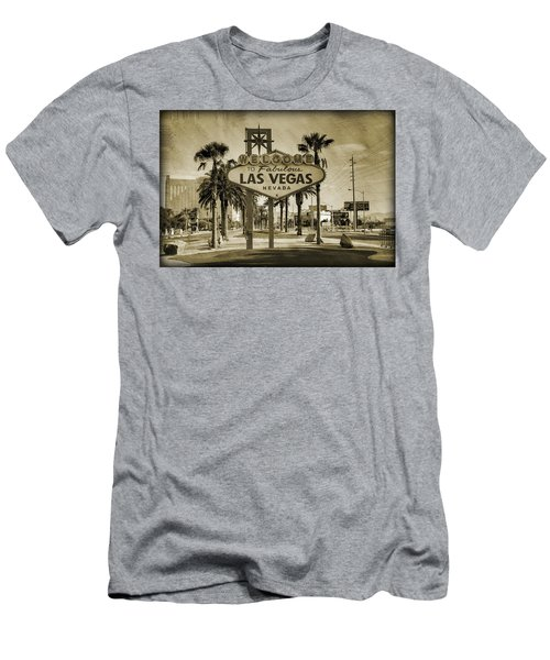 Welcome To Las Vegas Series Sepia Grunge Men's T-Shirt (Athletic Fit)
