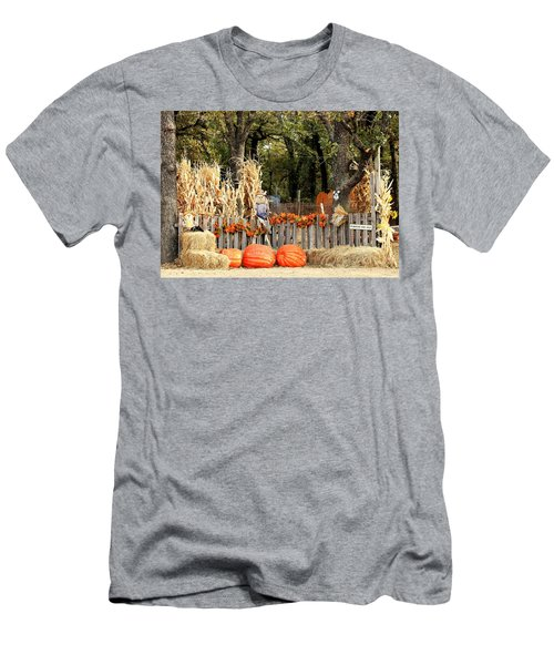 Men's T-Shirt (Athletic Fit) featuring the photograph Welcome To The Pumpkin Patch by Sheila Brown