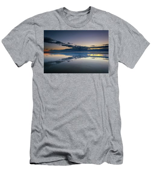 Men's T-Shirt (Slim Fit) featuring the photograph Wells Beach Reflections by Rick Berk