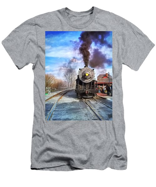 Western Maryland Steam Engine Men's T-Shirt (Athletic Fit)