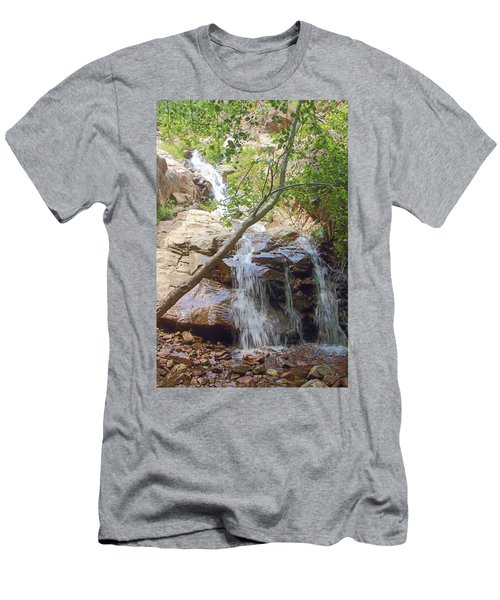 Western Side Of Etiwanda Falls Men's T-Shirt (Athletic Fit)