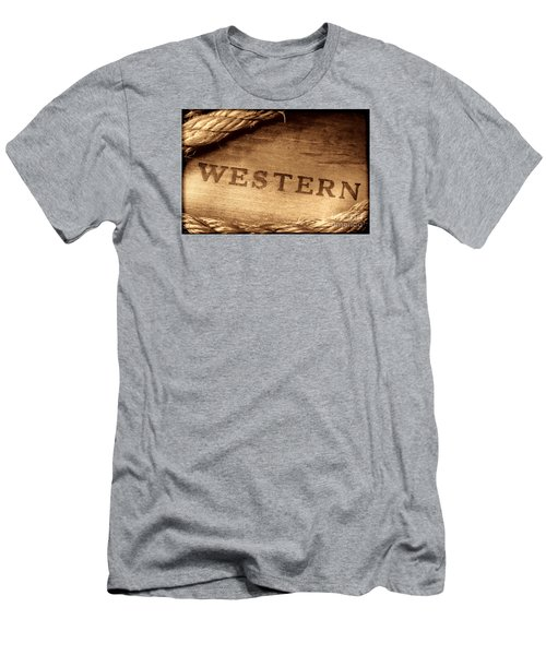Western Stamp Branding Men's T-Shirt (Athletic Fit)