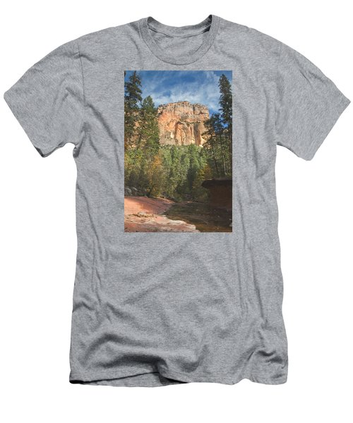 Men's T-Shirt (Slim Fit) featuring the photograph Westfork Trail by Tom Kelly