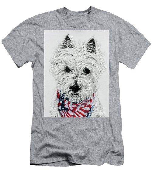 Westie Men's T-Shirt (Slim Fit) by Terri Mills