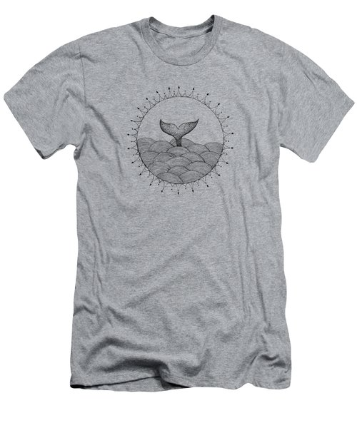 Whale In Waves Men's T-Shirt (Slim Fit) by Konstantin Sevostyanov