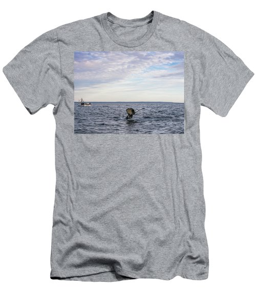 Whale Watching In Canada Men's T-Shirt (Slim Fit) by Trace Kittrell