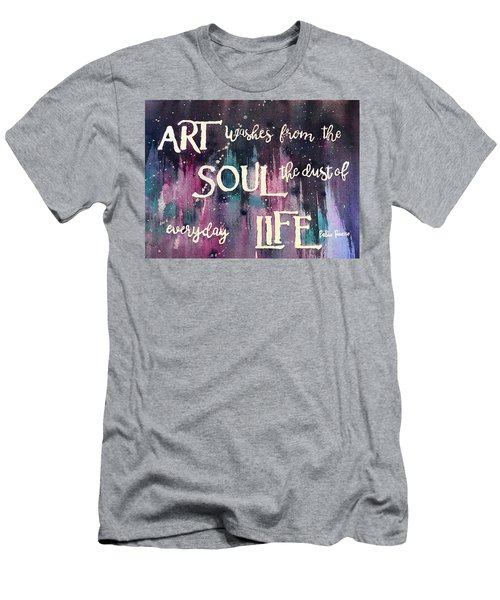 Men's T-Shirt (Athletic Fit) featuring the painting What Art Does by Diane Fujimoto