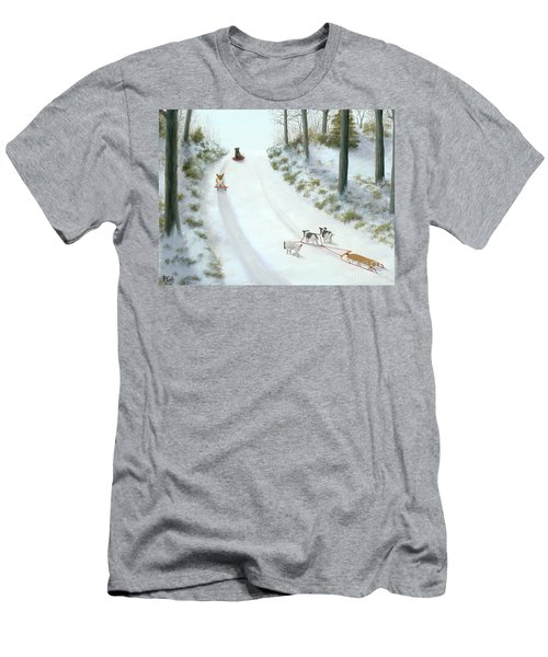 What They Do While We're At Work Men's T-Shirt (Athletic Fit)