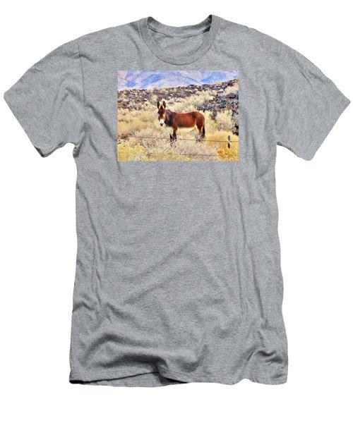 Whatcha Doing Men's T-Shirt (Slim Fit) by Marilyn Diaz