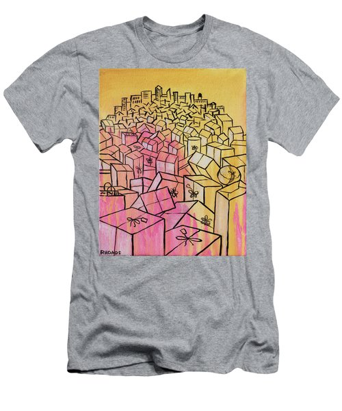 Men's T-Shirt (Athletic Fit) featuring the painting What's Mine Is Yours by Nathan Rhoads