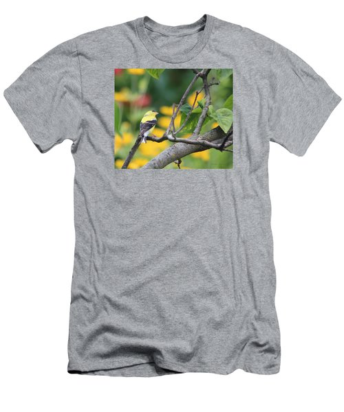 Men's T-Shirt (Slim Fit) featuring the photograph What's Up by Debra     Vatalaro