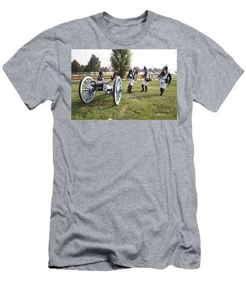 Wheeling The Cannon At Fort Mchenry In Baltimore Maryland Men's T-Shirt (Athletic Fit)